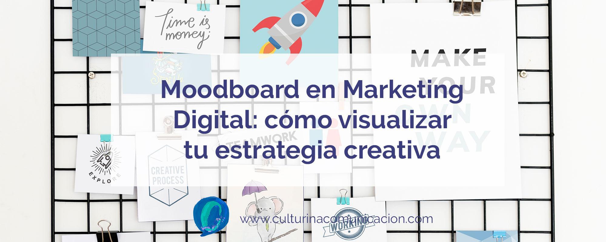 moodboard de marketing digital, culturina comunicación